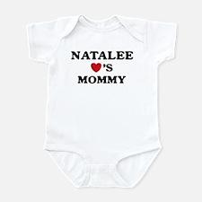 Natalee loves mommy Infant Bodysuit