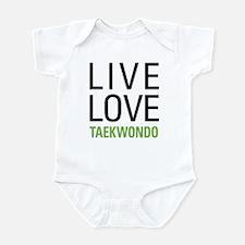 Live Love Taekwondo Infant Bodysuit