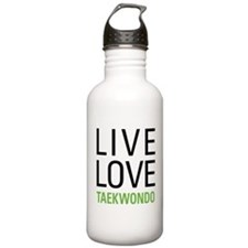 Live Love Taekwondo Sports Water Bottle