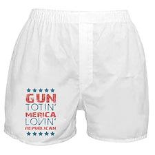 Gun Totin Merica Lovin Republican Boxer Shorts