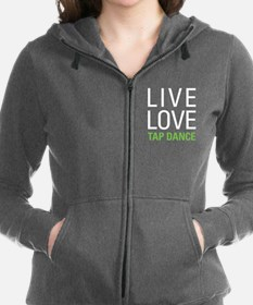 Live Love Tap Dance Women's Zip Hoodie