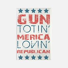 Gun Totin Merica Lovin Republican Rectangle Magnet