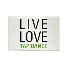 Live Love Tap Dance Rectangle Magnet (100 pack)