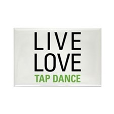 Live Love Tap Dance Rectangle Magnet (10 pack)