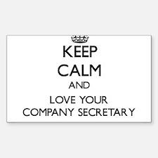 Keep Calm and Love your Company Secretary Decal