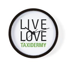 Live Love Taxidermy Wall Clock