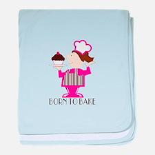Born To Bake baby blanket
