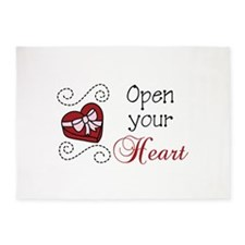 Open Your Heart 5'x7'Area Rug