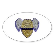 Fallen Police Officer Badge Stickers