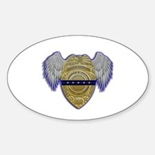 Fallen Police Officer Badge Decal