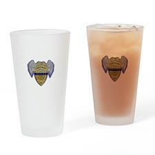 Fallen Police Officer Badge Drinking Glass