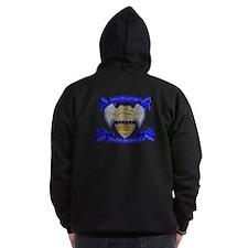 Fallen Police Officer Badge Zip Hoodie