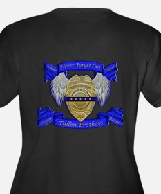 Fallen Police Officer Badge Plus Size T-Shirt