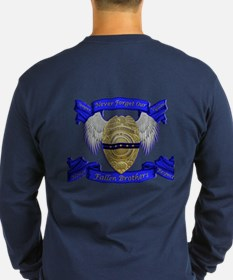 Fallen Police Officer Badge Long Sleeve T-Shirt
