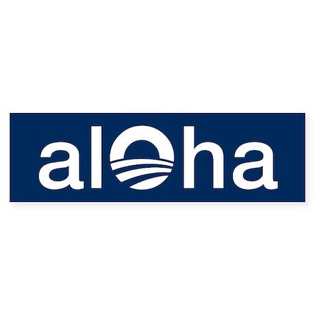 aloha_sticker Bumper Sticker