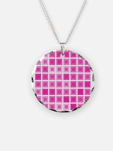 Light Pink Squares Necklace