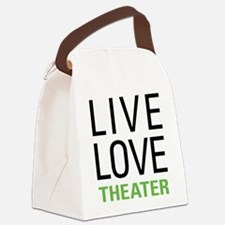 Live Love Theater Canvas Lunch Bag
