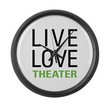 Live Love Theater Large Wall Clock
