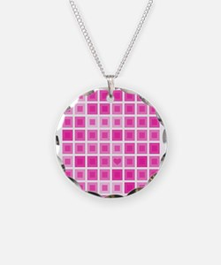 Light Pink Squares with a Little Heart Necklace