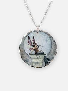 Autumn Moon Fairy Fantasy Art Necklace