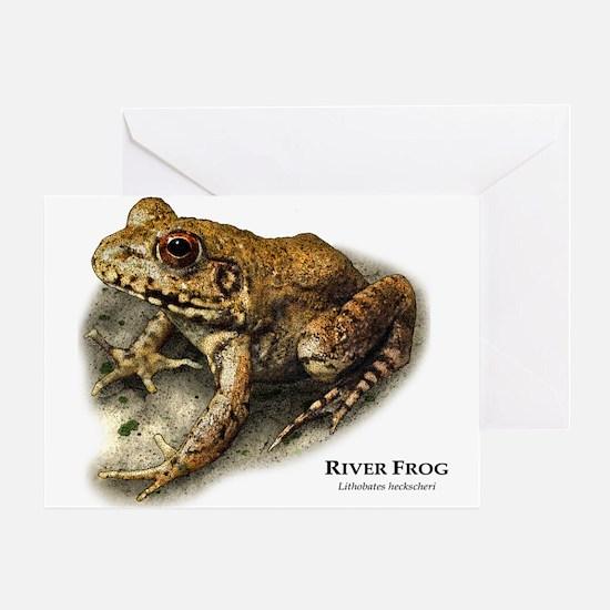 River Frog Greeting Card