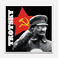 Leon Trotsky Tile Coaster