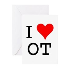 I Love OT Greeting Cards (Pk of 10)