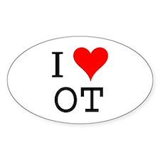 I Love OT Oval Decal