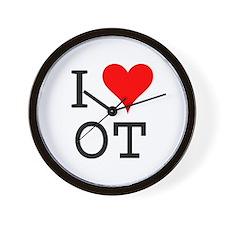 I Love OT Wall Clock