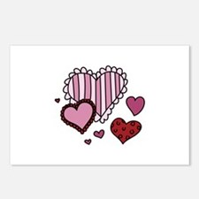 Valentine Hearts Postcards (Package of 8)