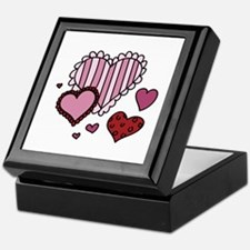 Valentine Hearts Keepsake Box