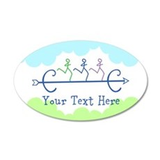 Personalized Cross Country Wall Decal