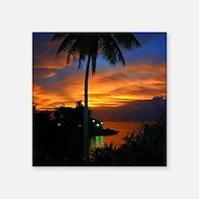 "Lagoon Sunset Square Sticker 3"" x 3"""