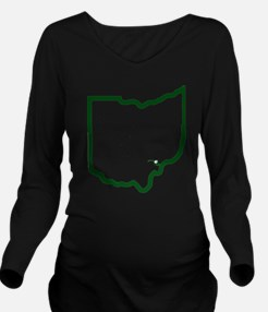 MD to Athens Ohio Long Sleeve Maternity T-Shirt