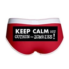 KEEP CALM but Outrun the Zombies Women's Boy Brief