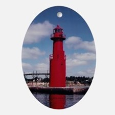 Wisconsin Lights the Way! Oval Ornament
