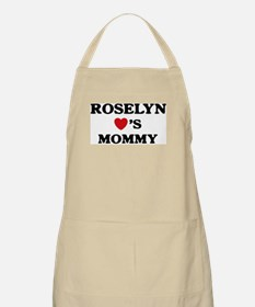 Roselyn loves mommy BBQ Apron