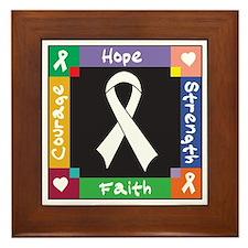 Lung Cancer Courage Framed Tile