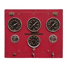 Fire Truck Gauges Throw Blanket