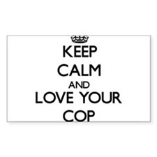 Keep Calm and Love your Cop Stickers