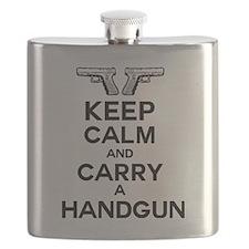 keep calm and carry a handgun Flask