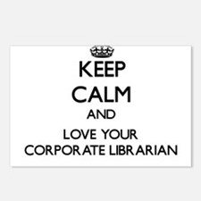 Keep Calm and Love your Corporate Librarian Postca