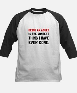 Adult Dumbest Thing Baseball Jersey