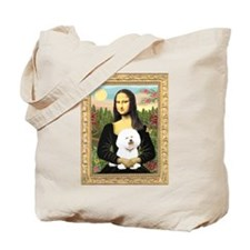 Mona Lisa (new) & Bichon Frise 1 Tote Bag