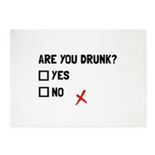 Are You Drunk 5'x7'Area Rug