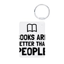 Books Better Than People Keychains