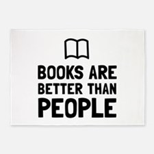 Books Better Than People 5'x7'Area Rug