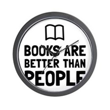 Books Better Than People Wall Clock