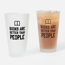 Books Better Than People Drinking Glass