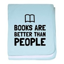 Books Better Than People baby blanket